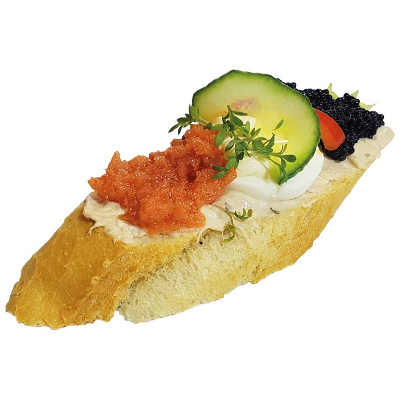 Thunfisch mit Seelachs und Kaviar Brötchen